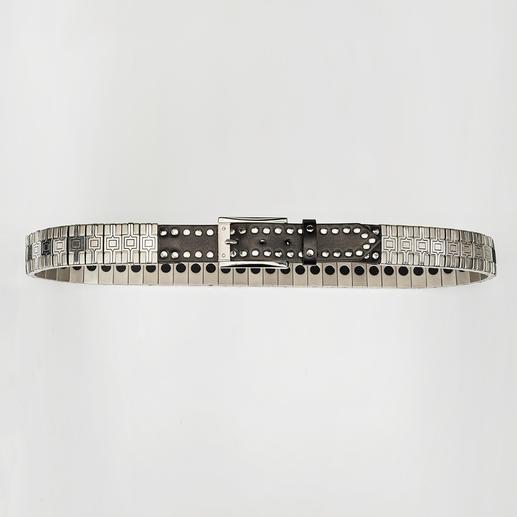 Nanni Metall-Flex-Gürtel Massive Optik. Flexibler Tragekomfort.