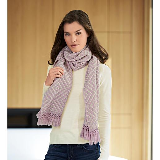 Heartbreaker Kaschmir-Webschal - Instant Chic für jedes Outfit: der stylishe Relief-Schal aus reinem Kaschmir.