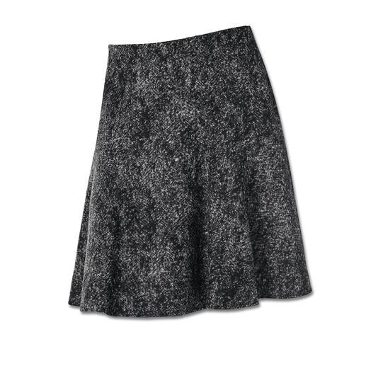 Michèle Wolljersey-Rock Tweed-Optik auf neue, leichte Art – als softer Wolljersey. Perfekt für die aktuelle schwingende Rock-Form.