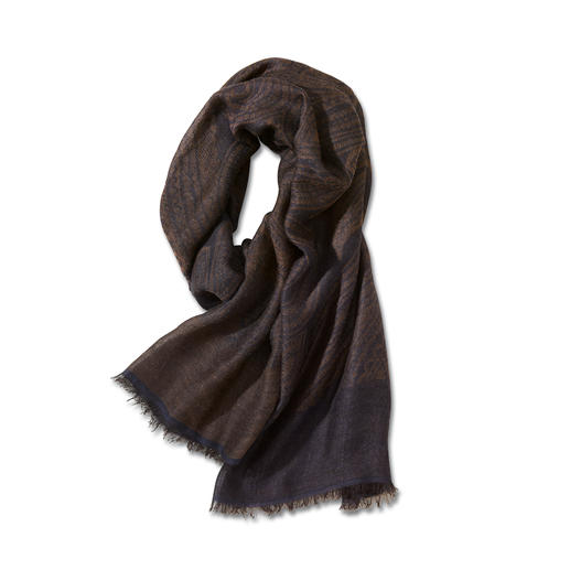 Paisley-Ganzjahres-Schal - Der perfekte Ganzjahres-Schal. Zeitlose Farben. Und nie zu warm oder zu kalt.