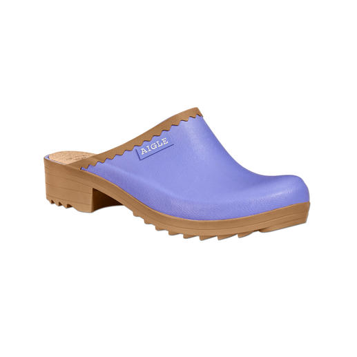 Aigle Clogs Stylisher als Plastik-Clogs. Leichter und bequemer als Holz-Clogs.