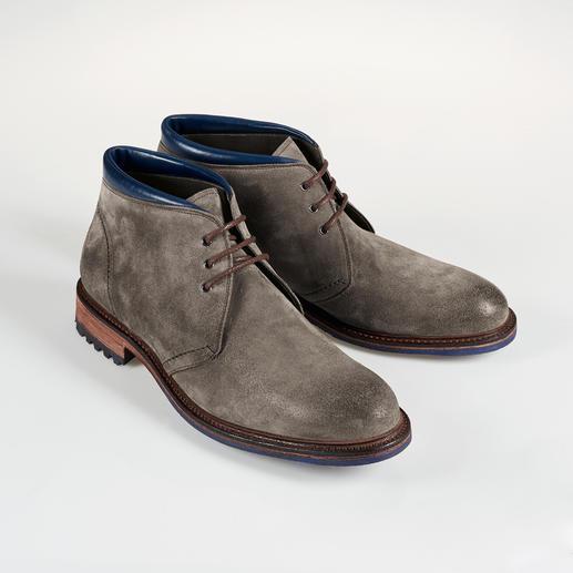 Cordwainer Veloursleder-Boots - Selten sind rahmengenähte Schuhe so modisch lässig – und so günstig.