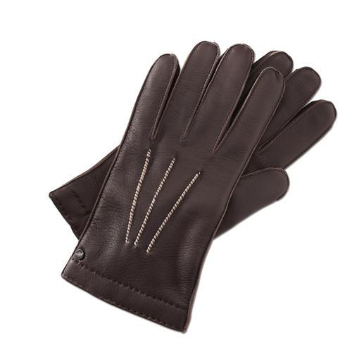 Merola Hirschleder-Handschuh Seltenes Hirschleder: unvergleichlich weich und doch robust. Handgefertigte Luxus-Handschuhe aus Italien.