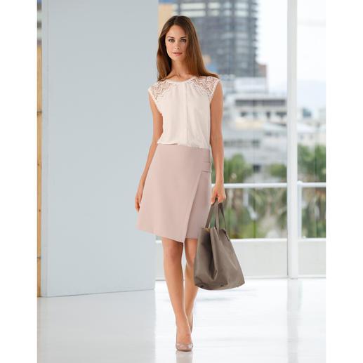 Seductive Business-Rock Fashion Star, Rosé Nach einem solchen Rock sucht eigentlich jede Frau. Elegant. Business-korrekt. Und doch modisch hochaktuell.