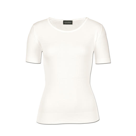 John Smedley 30-Gauge-T-Shirt, Damen - Viel angenehmer als gewöhnliche T-Shirts. Aber genauso vielseitig zu kombinieren. Von John Smedley/England.