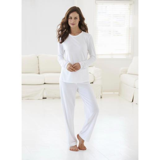 Cornelie Weiss Loungewear-Anzug - Perfekt für den Sommer: der weiße Loungewear-Anzug aus luftigem Baumwoll/Modal-Piqué.