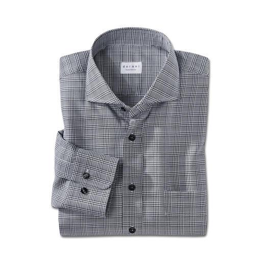 Dorani Glencheck-Hemd Viel interessanter als ein unifarbenes Hemd. Aber genauso vielseitig zu kombinieren. Der Klassiker: schwarz-weißer Glencheck.