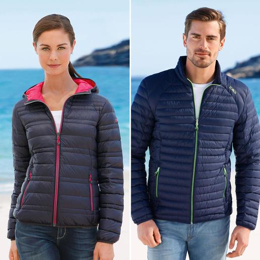CMP F.lli Campagnolo Sommerdaunen-Jacke Damen oder Herren - Ultraleicht. Und doch sanft wärmend. Die Daunenjacke für den Sommer. Von Campagnolo.