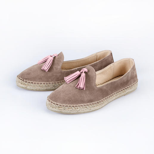 [espadrij] Tassel-Loafer Vom Urlaubs-Kult-Schuh zum stadtfeinen Sommer-Slipper. Edle Leder-Ausführung. Klassische Tassel-Loafer-Form.