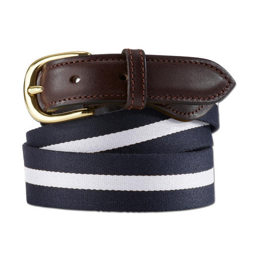 Smart Turnout Regimental-Belt Der smarte unter den sommerleichten Gürteln. Authentische Regimental-Stripes made in England. Von Smart Turnout.