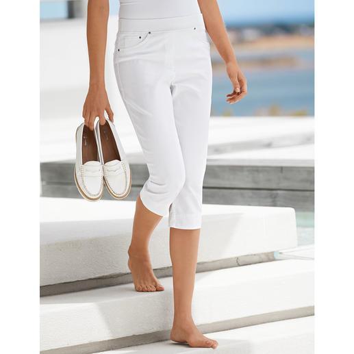 Raphaela by Brax Capri-Komfort-Jeggings, Weiß Endlich: bequeme Jeggings, die auch zu kurzen Oberteilen tragbar sind. Optisch nah an konfektionierten Hosen.