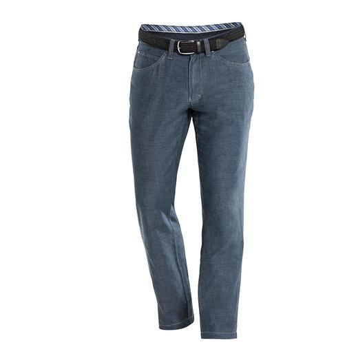 Baumwoll/Leinen-Five-Pocket - Endlich: eine luftige Baumwoll-Leinen-Hose mit dem knackigen Sitz einer Jeans. Dazu formstabil, knitterarm und blickdicht.