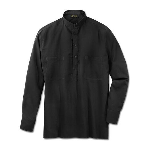 Nehru-Hemd, Baumwolle - Hollingtons original Stehkragenhemd.