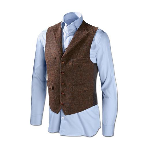 Carl Gross Harris Tweed-Sakko oder -Weste Original Harris Tweed von den Äußeren Hebriden – aber viel feiner und       leichter als üblich. Von Carl Gross.