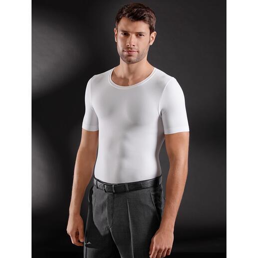 ITEM m6  Shape T-Shirt Six-Pack Die Shapewear-Innovation für Männer: T-Shirt mit Six-Pack-Effekt. Das Figur-Geheimnis unter Slim-Fit-Hemden.