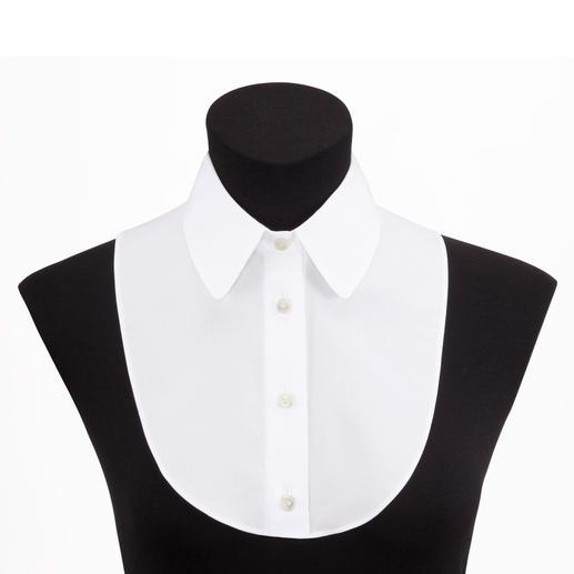 """Das """"Betrügerle"""" von van Laack - perfekt unter schmalen Pullovern. Elegante Blusen-Optik. Aber nichts staucht oder trägt auf."""