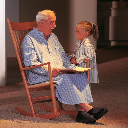 Grandpa-Nightshirt - Nostalgischer Komfort: Kuschelweich und wärmend  aus wertvollem, gerautem Baumwoll-Flanell.