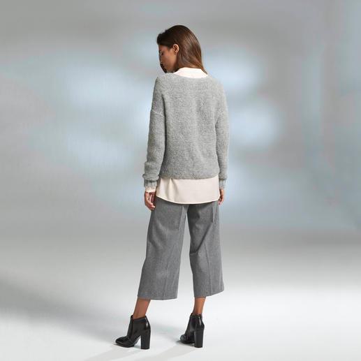 """Alpaka-Grobstrickpullover """"Slim Line"""" Schwer zu finden: der schlanke, leichte unter den angesagten Grobstrick-Pullovern."""