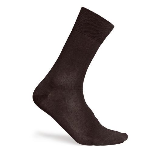Extrafein-Baumwoll-Socken Herren, Braun
