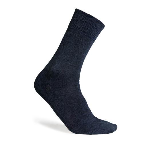 Doubleface-Woll-Socken Herren, Marine