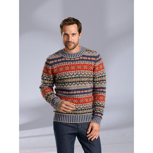Eribé Fair-Isle-Damen- oder Herrenpullover Der original Fair-Isle-Pullover: Niemals aus der Mode- und doch so schwer zu finden. Aus echter Shetland-Wolle.