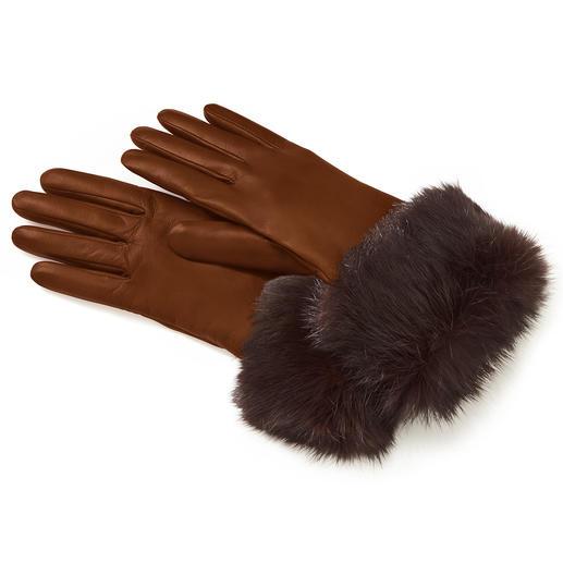 Kaninchenfell-Lederhandschuh - 3-facher Luxus, erfreulich günstig.