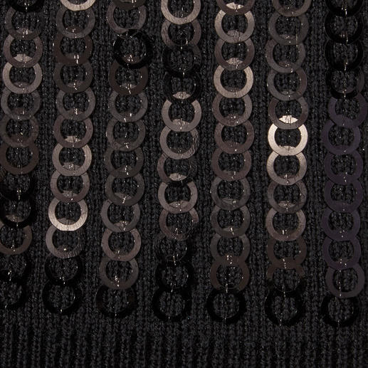 Norton Pailletten-Bommelmütze Finnraccoon-Bommel plus Pailletten: Die Strickmütze wird glamourös. Und flauschig weich dank Plüsch-Futter.