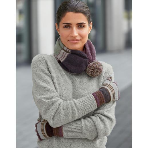 Johnstons 4-Ply Kaschmir-Tweed Damen-Pullover So selten, so soft: weicher Donegal-Tweed-Pullover aus 100 % feinstem 4-Ply-Kaschmir.