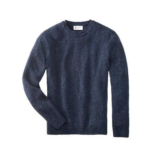 Johnstons 4-Ply Kaschmir-Tweed Herren-Pullover So selten, so soft: weicher Donegal-Tweed-Pullover aus 100 % feinstem 4-Ply-Kaschmir.