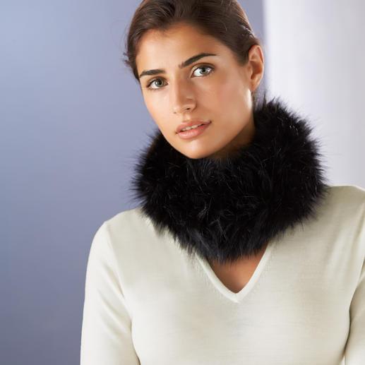 Fake-Fur Tuch-Kragen Das Winter-Update Ihrer Seidenschals: der Vario-Webpelzkragen mit Durchzug-Schlaufen.