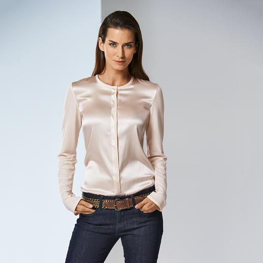 Strenesse Shirt-Bluse Elegant wie eine Bluse. Bequem wie ein Shirt.Raffinierter Mix aus Jersey und Satin.