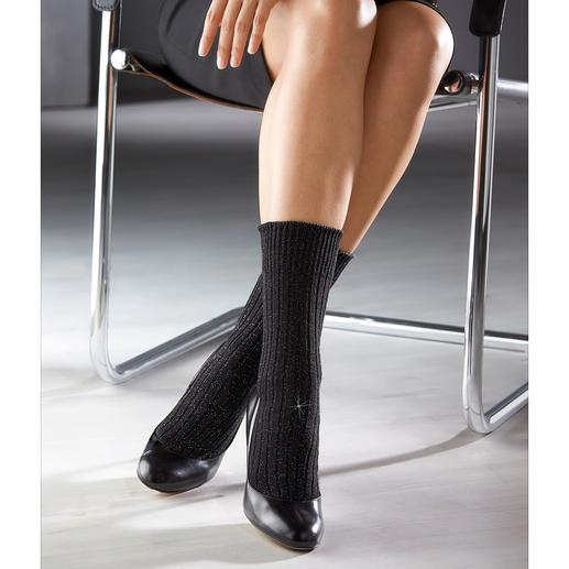 Corgi Lurex®-Baumwollsocke Perfekt zu verkürzten Hosen oder zur Culotte. Von Strumpfspezialist Corgi aus Wales.