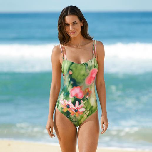 Der Badeanzug aus sonnendurchlässigem SunSelect® wirkt wie eine gute Sonnencreme. Dieser Badeanzug wirkt wie eine gute Sonnencreme.