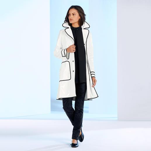 TWINSET Regenmantel Zurück in der Mode: Der Lackmantel aus den 60ern ist stylischer Regenschutz von heute.