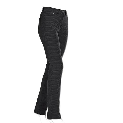 RAPHAELA-BY-BRAX Zauberbund-Hose Krawatten-Dessin - Ihre wohl bequemste Five-Pocket-Hose: die Zauberbund-Hose von RAPHAELA-BY-BRAX. Nicht sichtbare Bundweiten-Reserve plus Power-Stretch-Effekt.