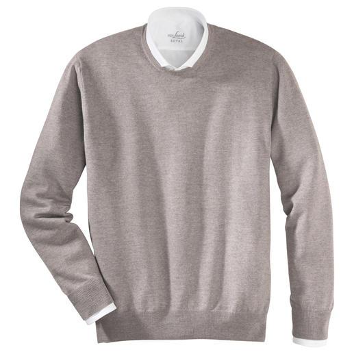 Alan Paine Merino-V- oder -Rundhals-Pullover Waschen, trocknen, tragen: pflegeleichte Pullover aus extrafeiner Merinowolle. Von Alan Paine/England, seit 1907.
