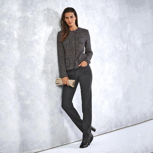 ANNECLAIRE Multicolor-Bouclé-Cardigan - So bequem und luftig kann eine elegante Bouclé-Jacke sein. Gestrickt statt gewebt. Von ANNECLAIRE. Made in Italy.