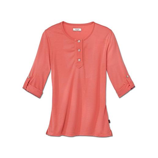 Aigle Baumwoll-Funktionsshirt 100 % Feuchtigkeitstransport – aber dank Baumwolle viel weicher als reine Synthetik-Shirts.