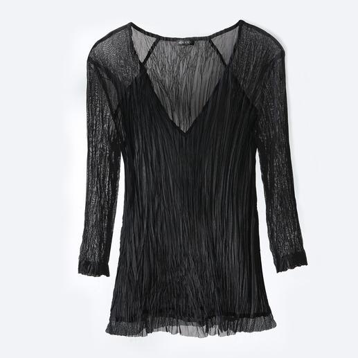 Shelley Komarov Plissee-Travel-Shirt Gut gekleidet ohne Aufwand: das unkomplizierte Reise-Shirt von Shelley Komarov, L.A. Bequem, pflegeleicht und trotzdem chic.