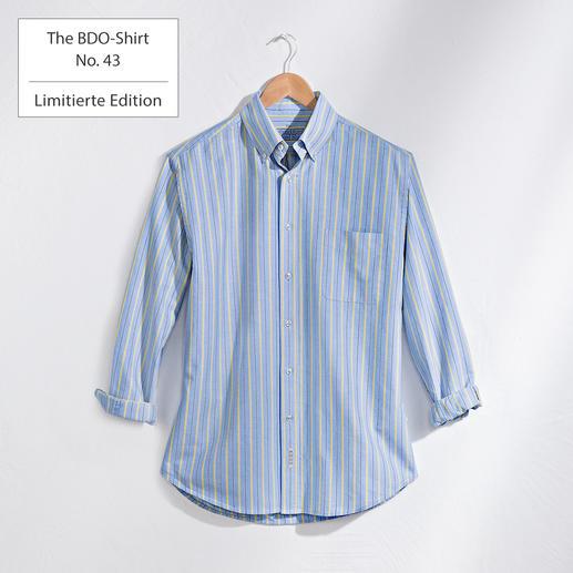 The BDO-Shirt No.43,  Gestreift - Entdecken Sie einen guten alten Freund. Und vergessen Sie, dass ein Hemd gebügelt werden muss.