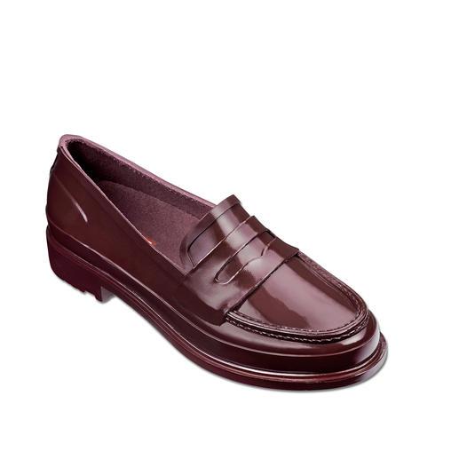 Hunter Penny-Loafer Stilvoll. Wasserdicht. Sehr bequem. Der Penny Loafer aus 100 % Naturkautschuk.