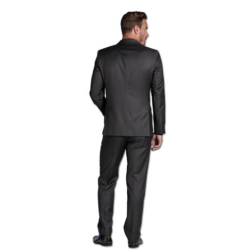 Lagerfeld-Woll-Seiden-Anzug Edles Tuch mit Seide. Modisches Muster. Original Lagerfeld. Und doch nur 599,– Euro.