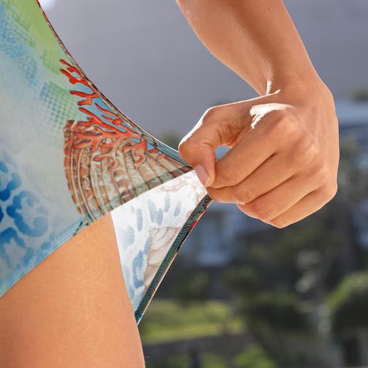 Der Sonnen durchlässige SunSelect®-Jersey sorgt für gleichmäßige Bräune.