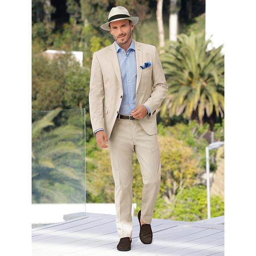 """Carl Gross Baumwoll-Anzug """"Ceramica"""" - Der ideale Anzug für Business und Reise: sommerliches Baumwoll-Tuch – und doch kaum Knitter."""
