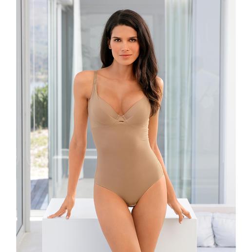 Der Shape-Body aus atmungsaktivem Mesh-Gewebe. Sanft formend, dabei herrlich leicht und luftig.