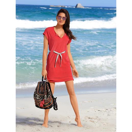 Pluto Feinfrottier-Kleid Das elegante Feinfrottier-Kleid für Strand, Spa, Sofa, ... Unglaublich vielseitig und herrlich bequem. Von Pluto.