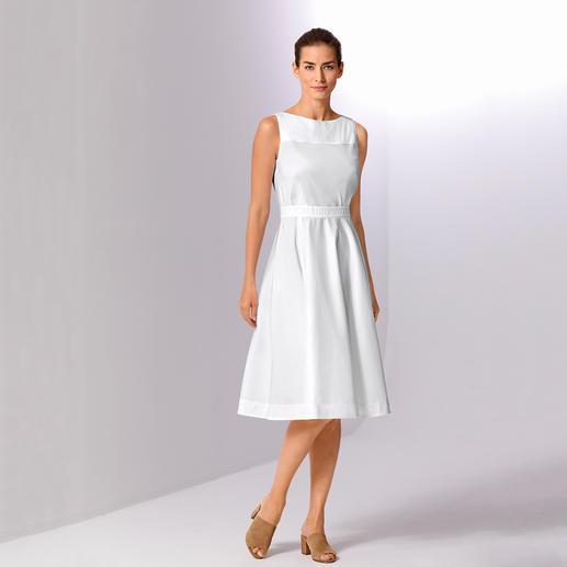 Paule Ka Couture-Kleid - Die feminine Eleganz der 50ies. Neu aufgelegt vom Pariser Label Paule Ka. Das waschbare weiße Couture-Kleid aus leichtem Baumwoll-Popeline.