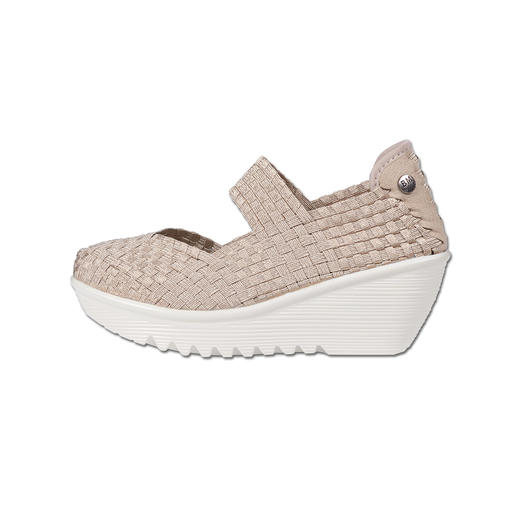 "Bernie Mev. Flecht-Wedges Der Fashion-Hit aus den USA: Flecht-Wedges vom ""King of woven Footwear"", Bernie Mev. New York."