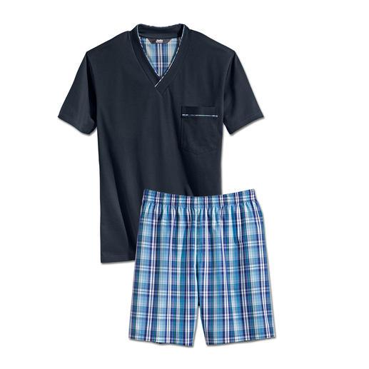 Lieblings-Pyjama kurz No. 25 Ihr Lieblings-Pyjama zum kleinen Preis. Reine Baumwolle, sauber verarbeitet, made in Germany.