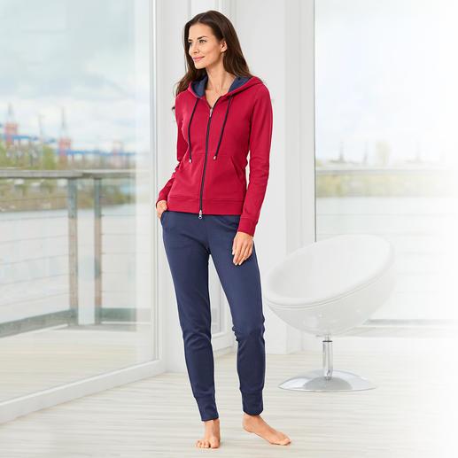 Pima-Cotton Homesuit Der unvergleichlich weiche Homesuit aus handgepflückter peruanischer Pima-Cotton.